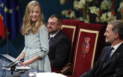 Discours historique de Léonore aux Prix Princesse des Asturies